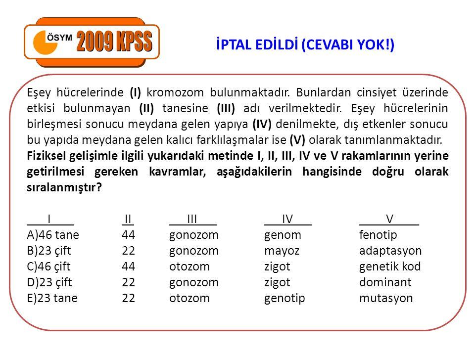 2009 KPSS İPTAL EDİLDİ (CEVABI YOK!)