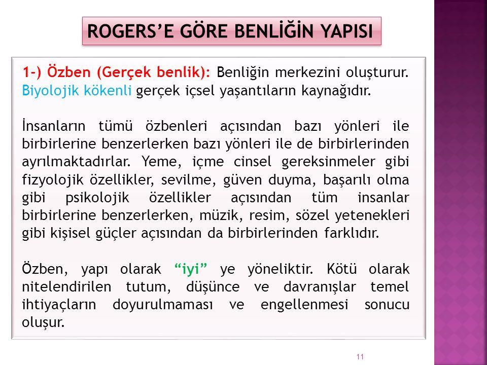 ROGERS'E GÖRE BENLİĞİN YAPISI
