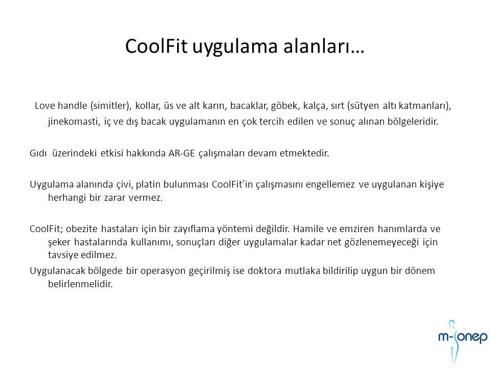 CoolFit uygulama alanları…