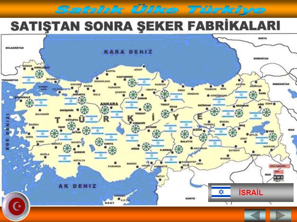 Satılık Ülke Türkiye İSRAİL