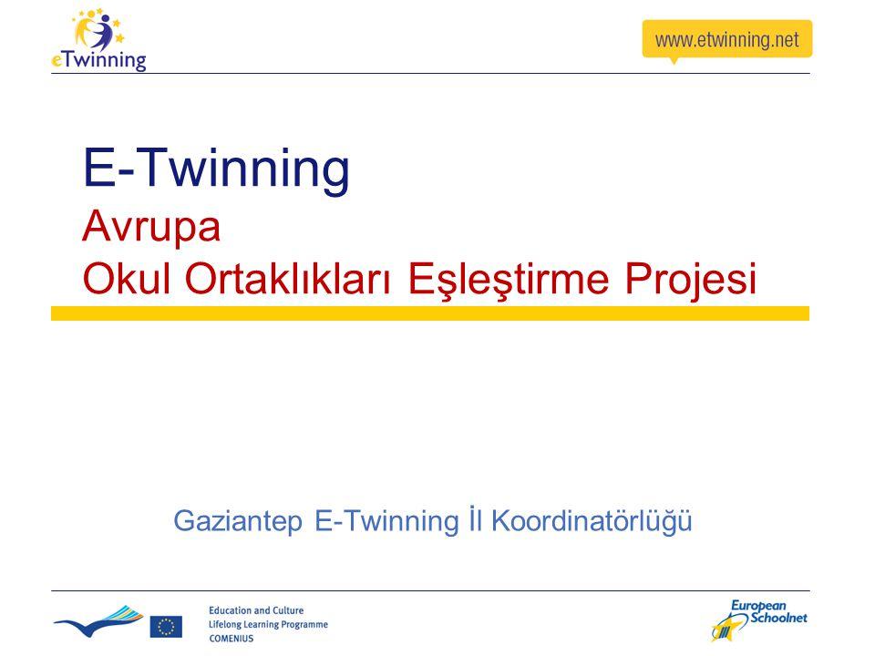 E-Twinning Avrupa Okul Ortaklıkları Eşleştirme Projesi