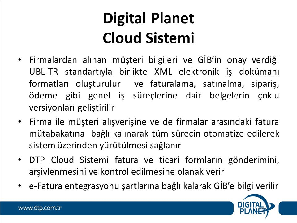 Digital Planet Cloud Sistemi