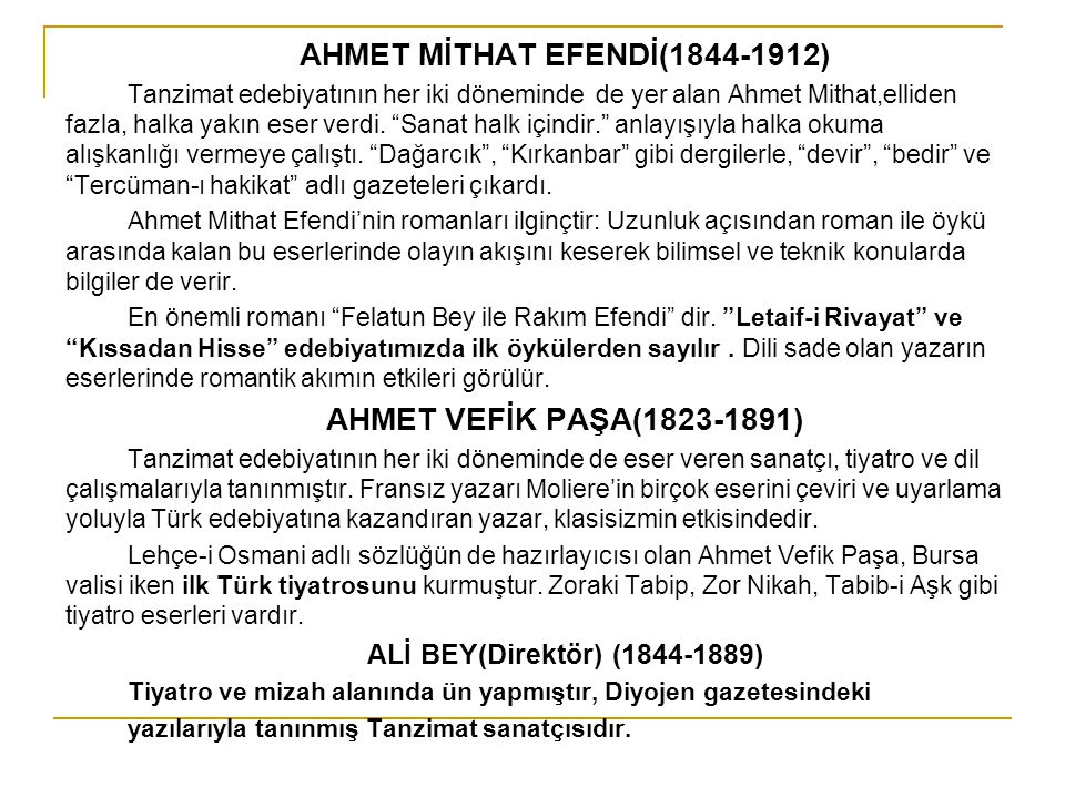 AHMET MİTHAT EFENDİ(1844-1912)