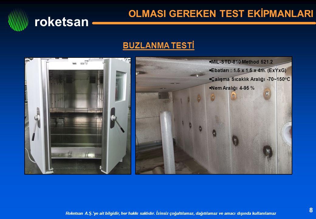 OLMASI GEREKEN TEST EKİPMANLARI