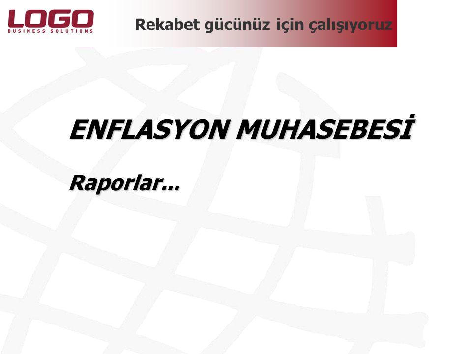 ENFLASYON MUHASEBESİ Raporlar...