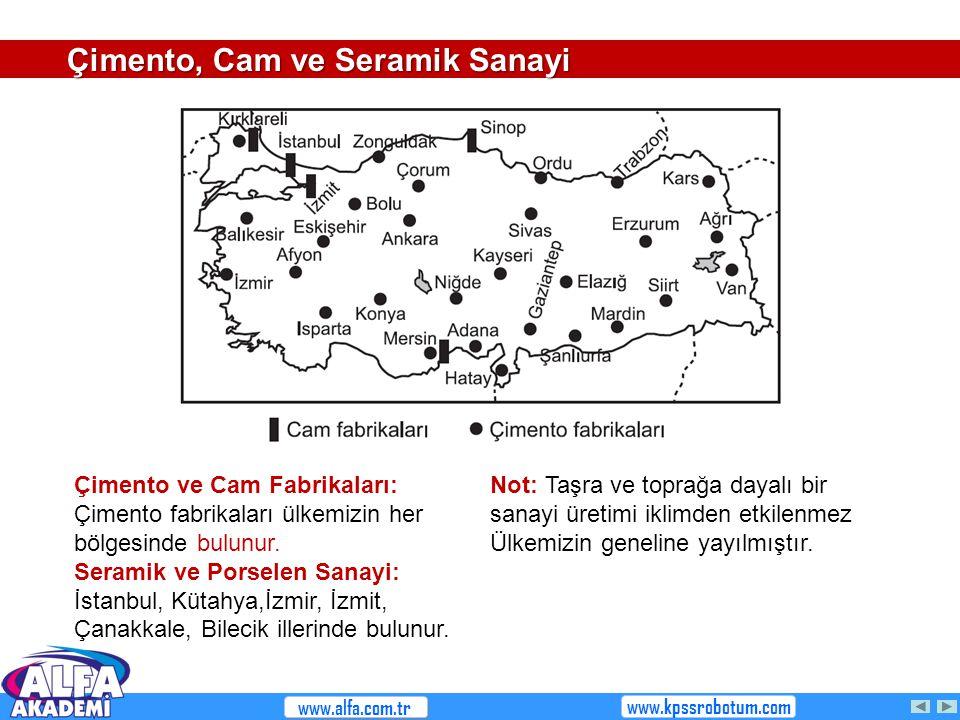 Çimento, Cam ve Seramik Sanayi