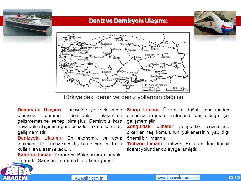 Deniz ve Demiryolu Ulaşımı: