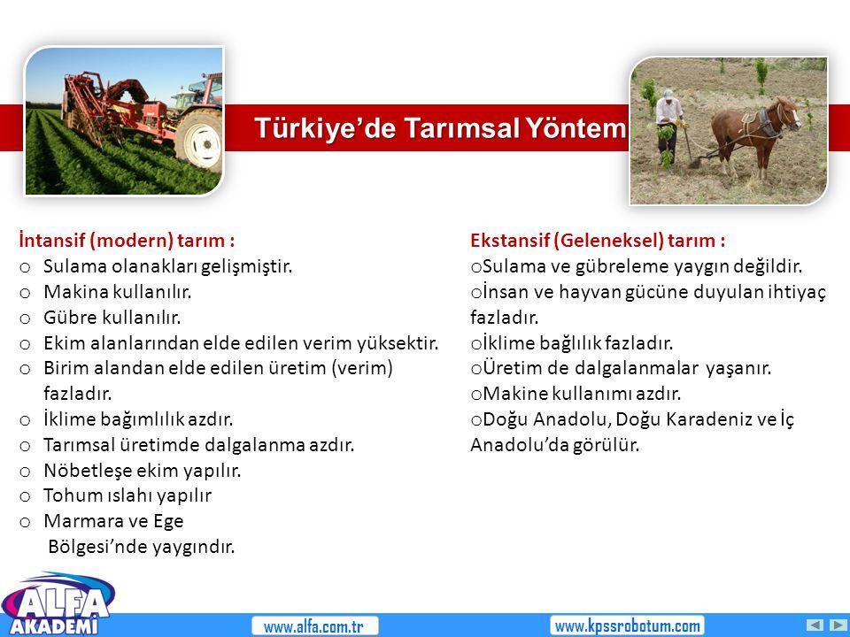 Türkiye'de Tarımsal Yöntemler