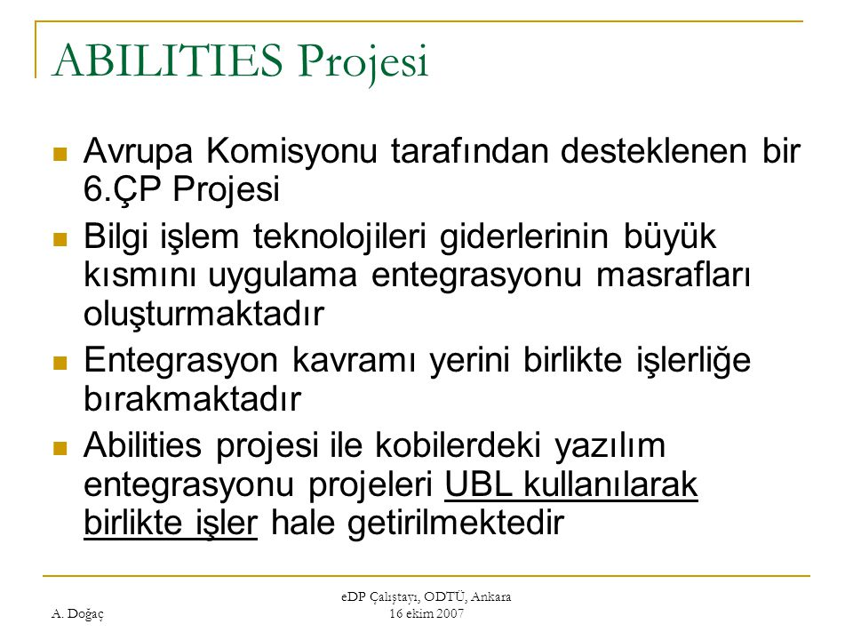 eDP Çalıştayı, ODTÜ, Ankara