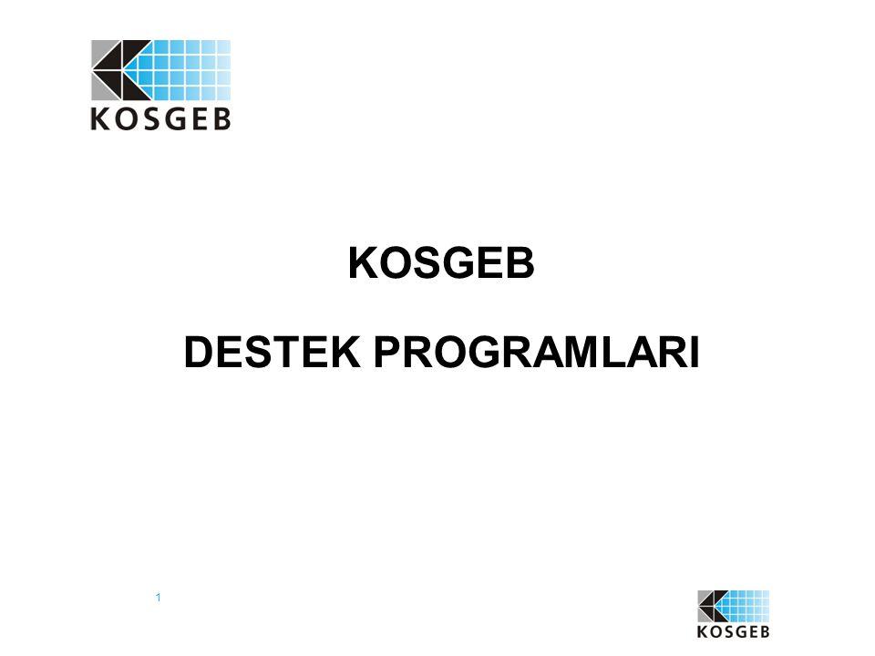 KOSGEB DESTEK PROGRAMLARI