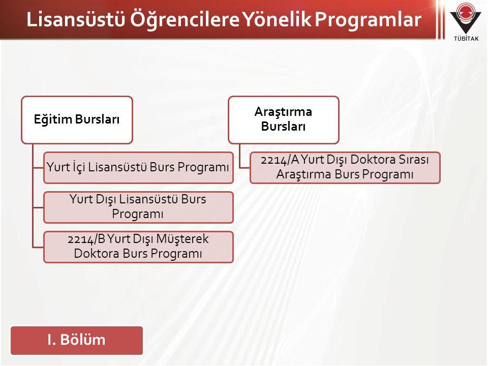 Lisansüstü Öğrencilere Yönelik Programlar