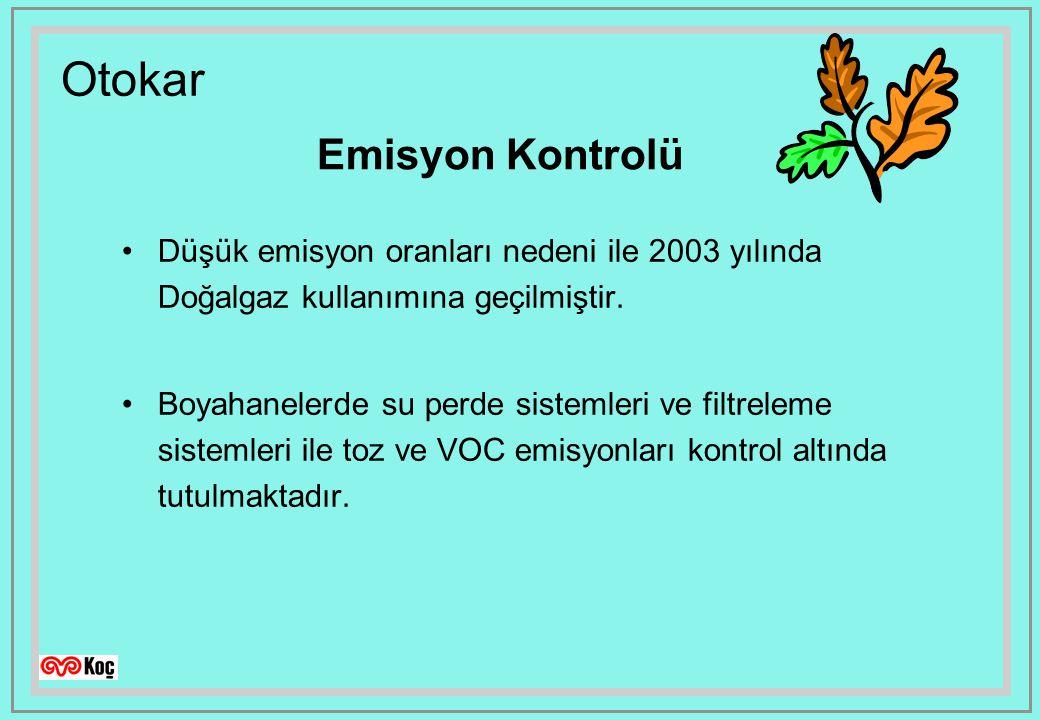 Emisyon Kontrolü Düşük emisyon oranları nedeni ile 2003 yılında Doğalgaz kullanımına geçilmiştir.
