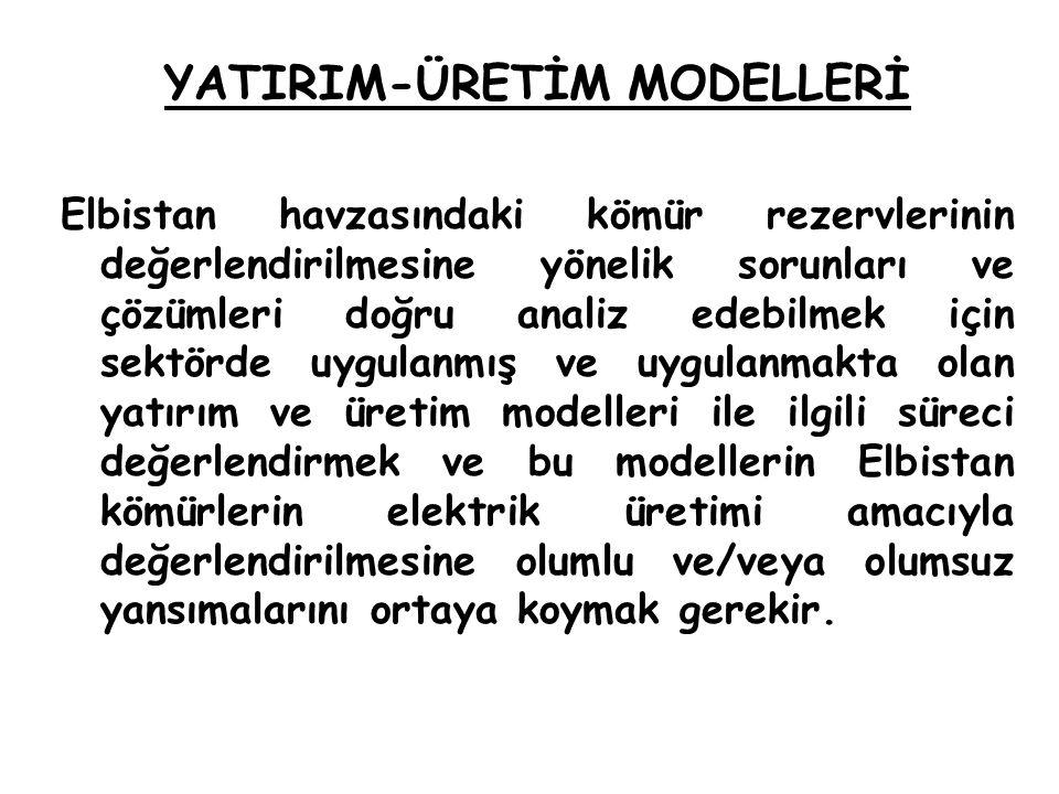 YATIRIM-ÜRETİM MODELLERİ