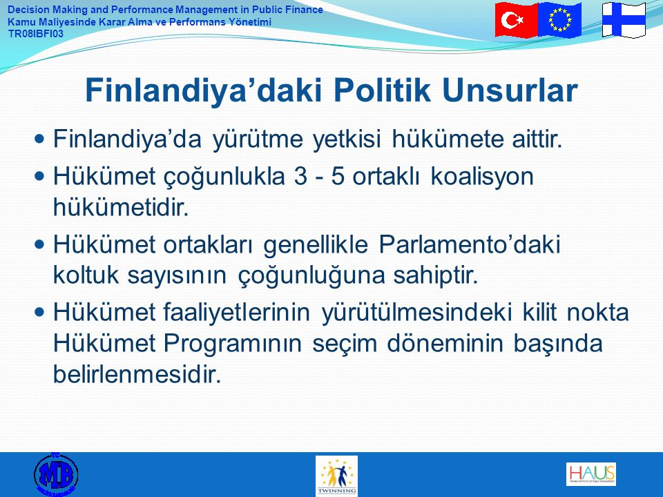 Finlandiya'daki Politik Unsurlar
