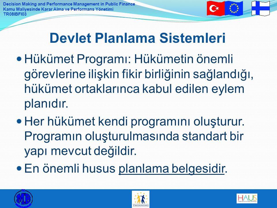 Devlet Planlama Sistemleri