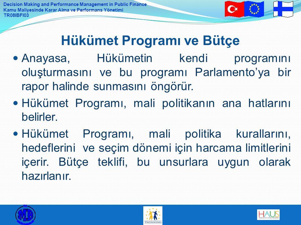 Hükümet Programı ve Bütçe