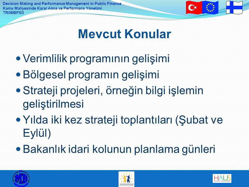 Mevcut Konular Verimlilik programının gelişimi