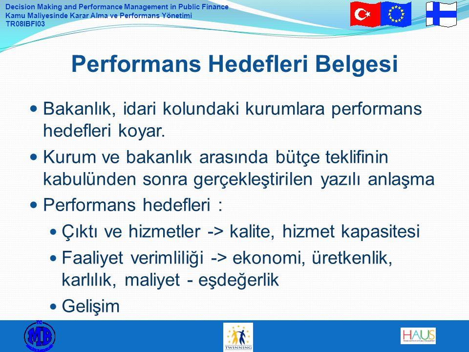 Performans Hedefleri Belgesi