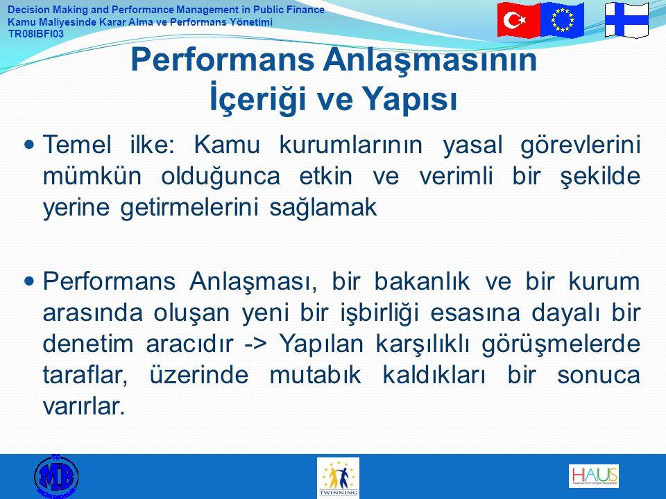Performans Anlaşmasının İçeriği ve Yapısı