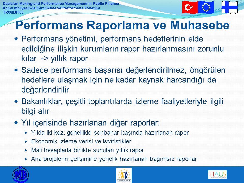Performans Raporlama ve Muhasebe