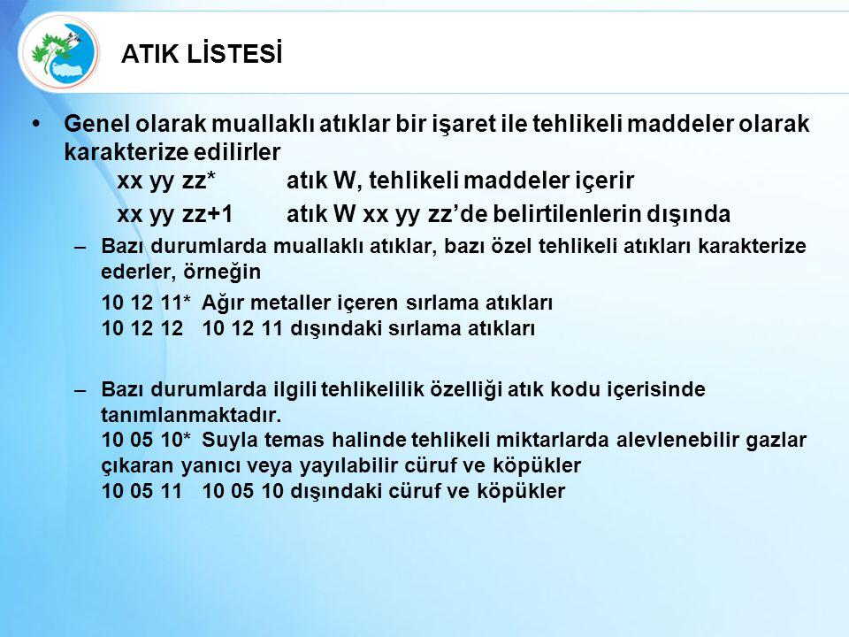 ATIK LİSTESİ