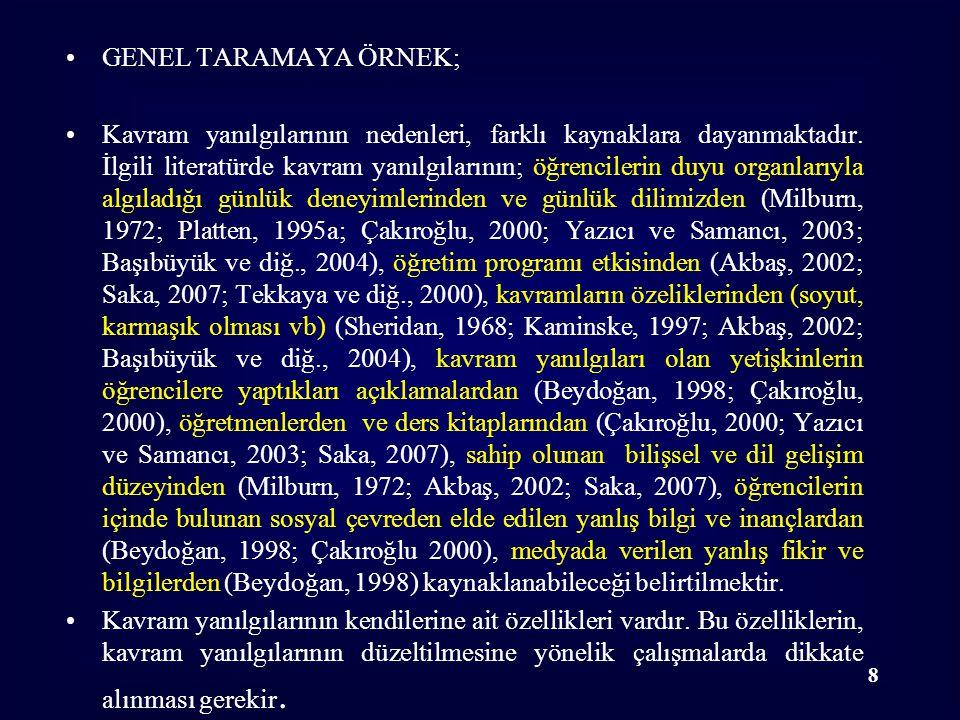 GENEL TARAMAYA ÖRNEK;