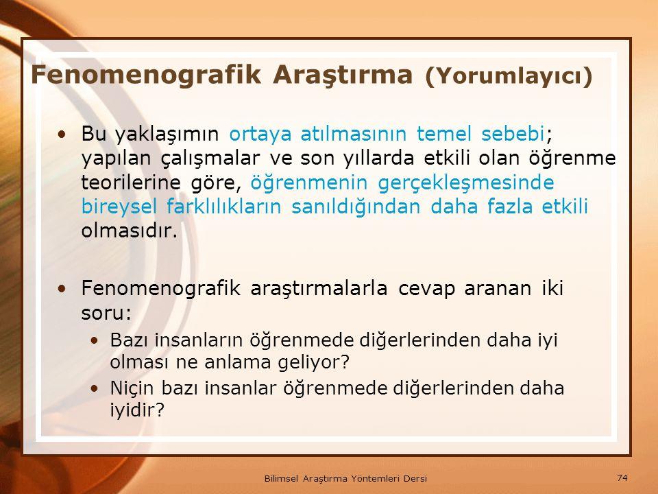 Fenomenografik Araştırma (Yorumlayıcı)