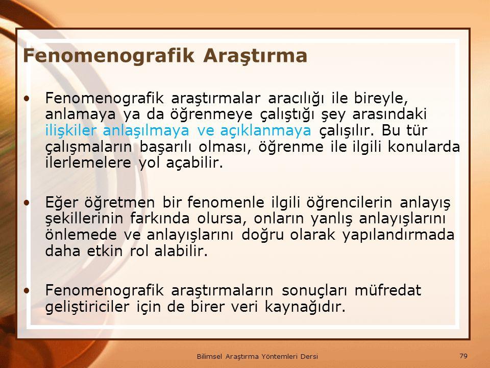 Fenomenografik Araştırma