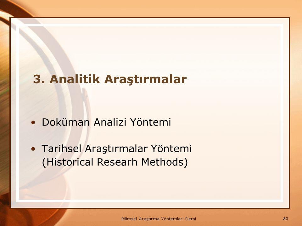 3. Analitik Araştırmalar
