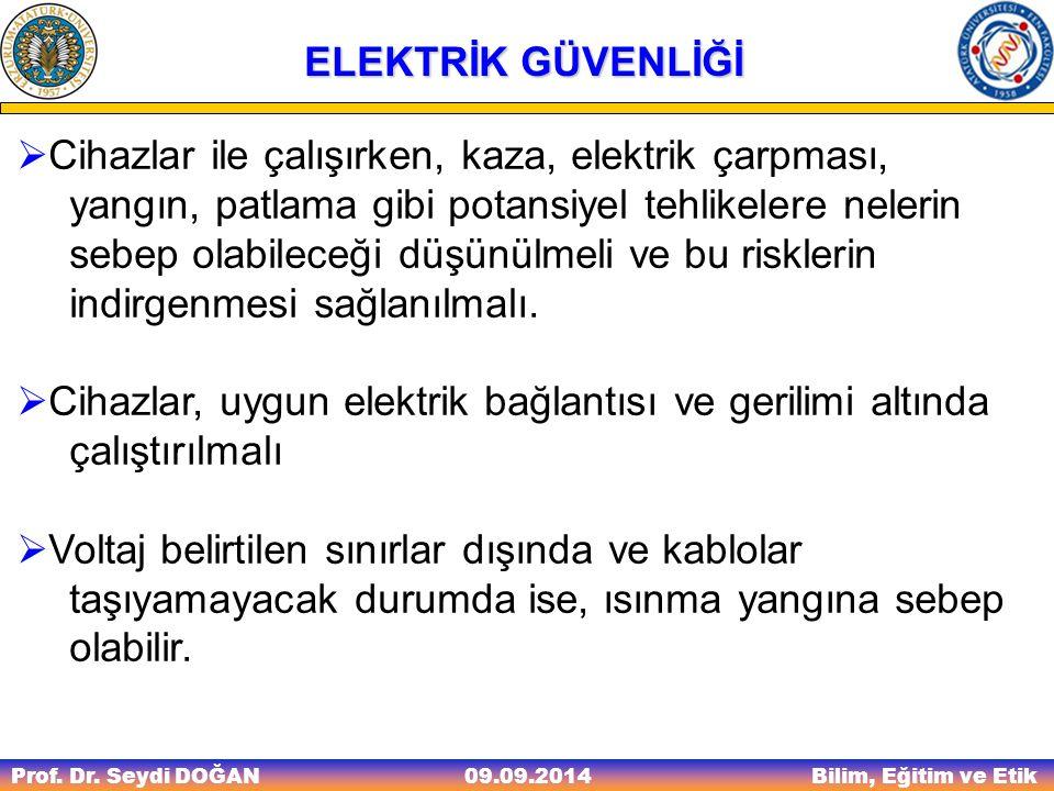 Cihazlar, uygun elektrik bağlantısı ve gerilimi altında çalıştırılmalı