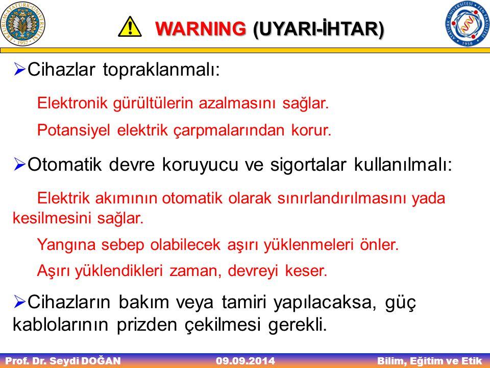 WARNING (UYARI-İHTAR)