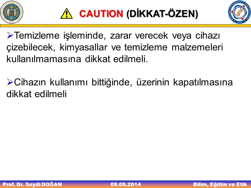 CAUTION (DİKKAT-ÖZEN)