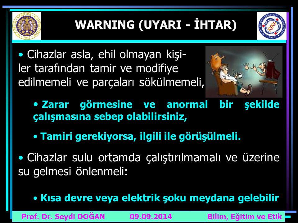 WARNING (UYARI - İHTAR)