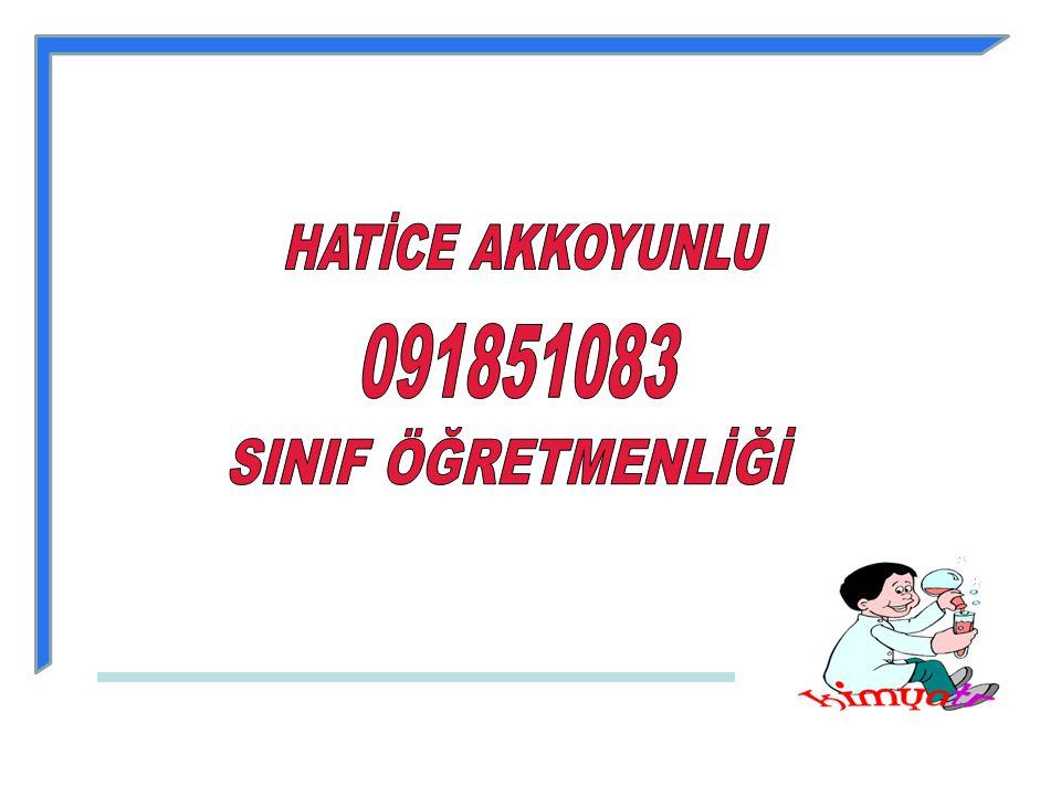 HATİCE AKKOYUNLU 091851083 SINIF ÖĞRETMENLİĞİ
