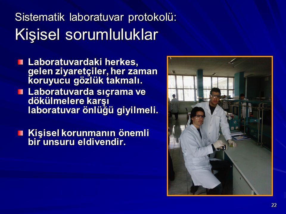 Sistematik laboratuvar protokolü: Kişisel sorumluluklar