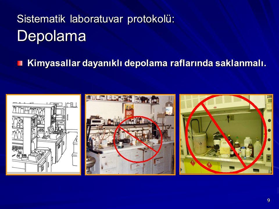 Sistematik laboratuvar protokolü: Depolama
