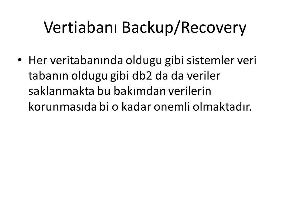Vertiabanı Backup/Recovery