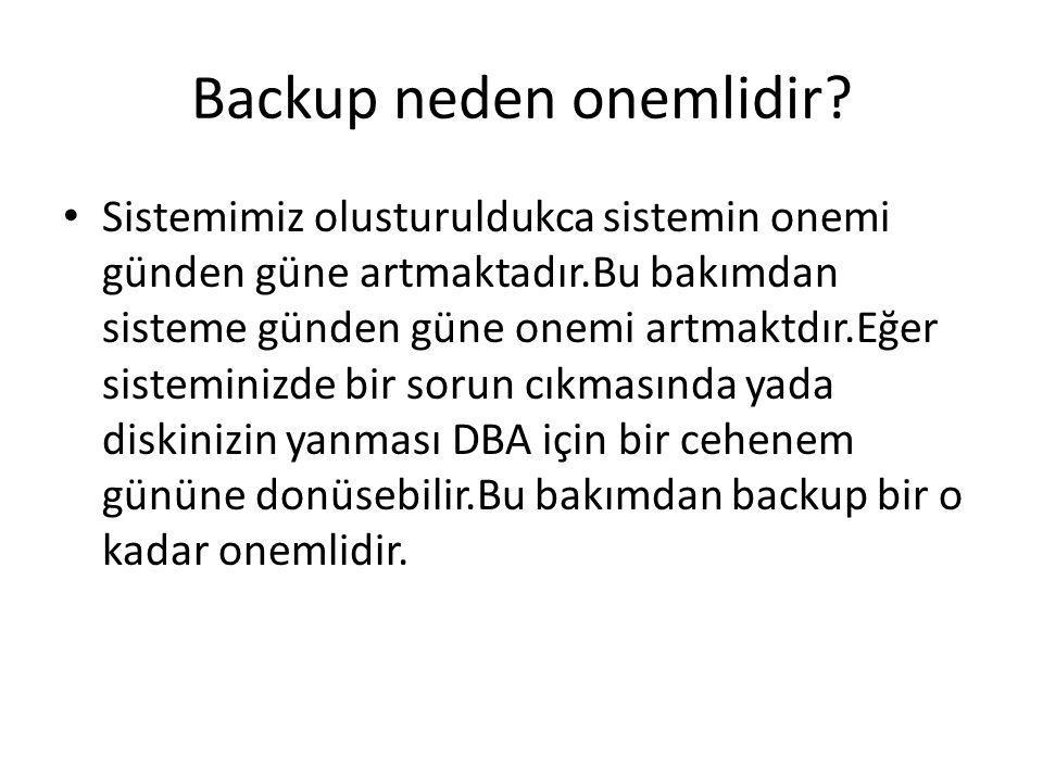 Backup neden onemlidir