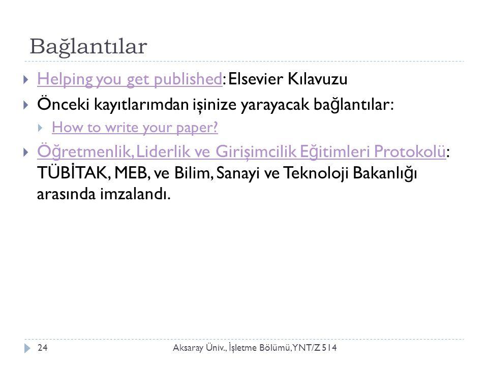 Bağlantılar Helping you get published: Elsevier Kılavuzu