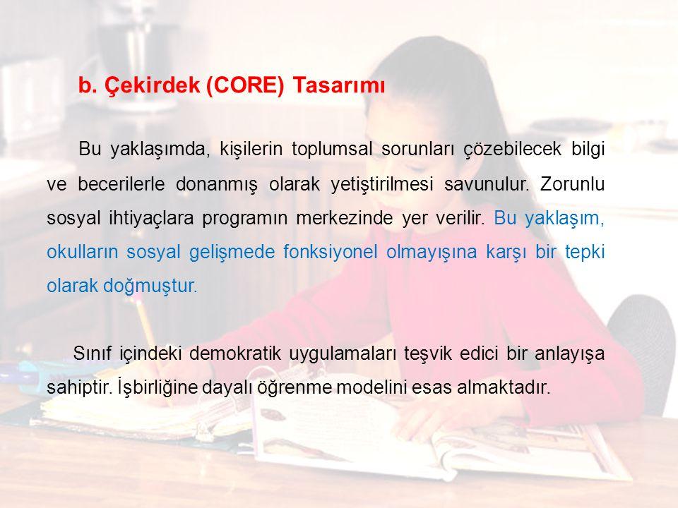 b. Çekirdek (CORE) Tasarımı