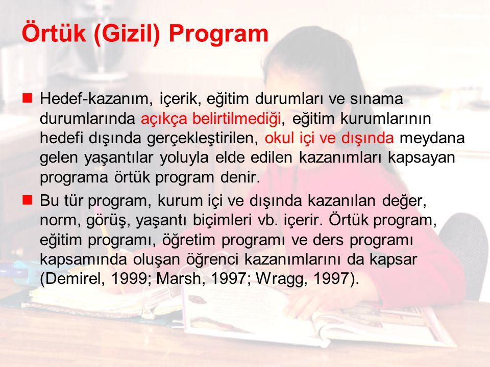 Örtük (Gizil) Program