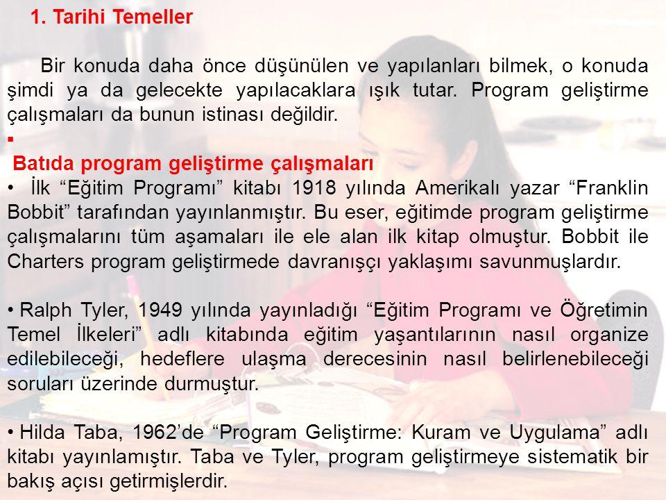 Batıda program geliştirme çalışmaları