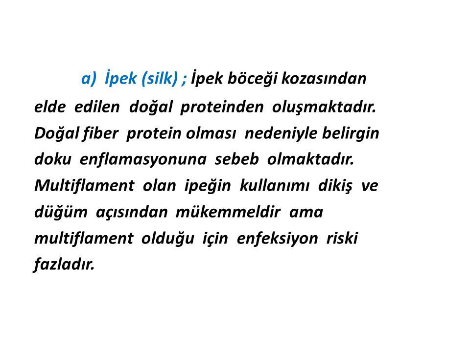 a) İpek (silk) ; İpek böceği kozasından