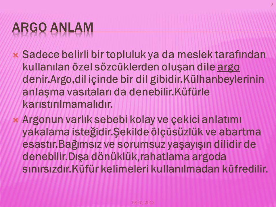 Argo anlam