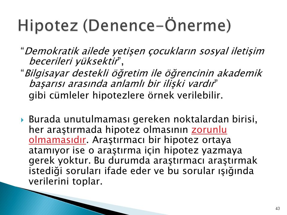Hipotez (Denence-Önerme)