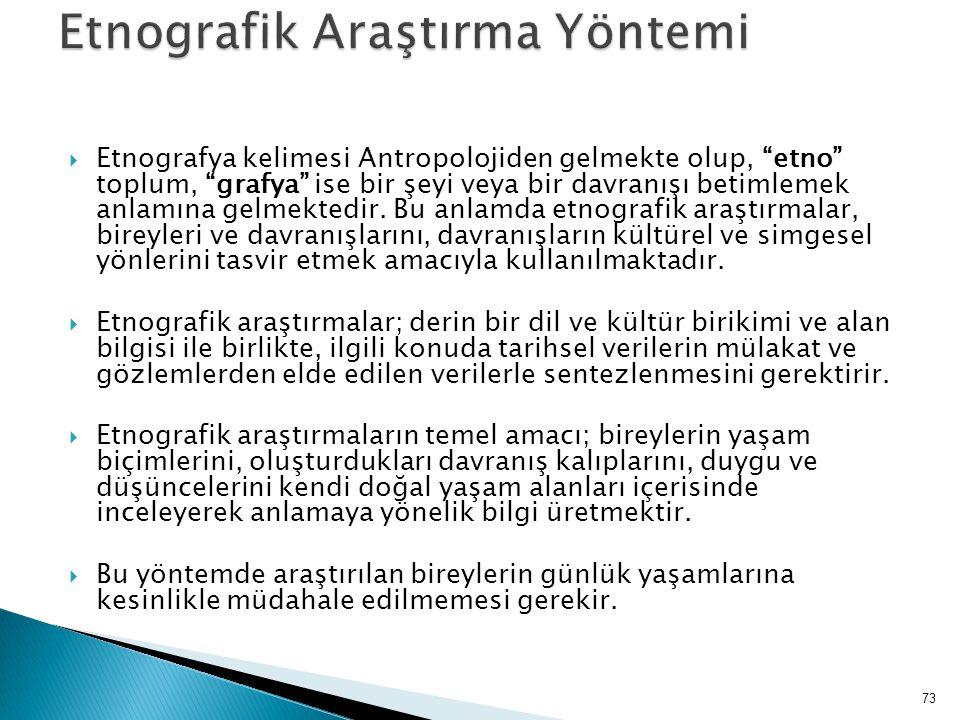 Etnografik Araştırma Yöntemi