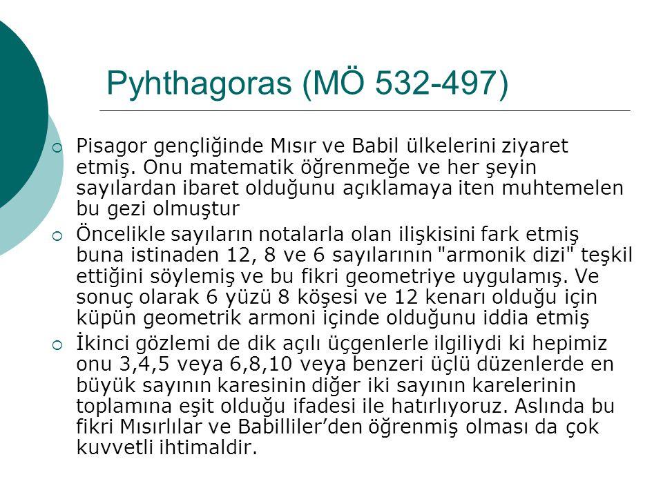 Pyhthagoras (MÖ 532-497)