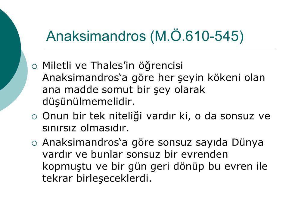 Anaksimandros (M.Ö.610-545)