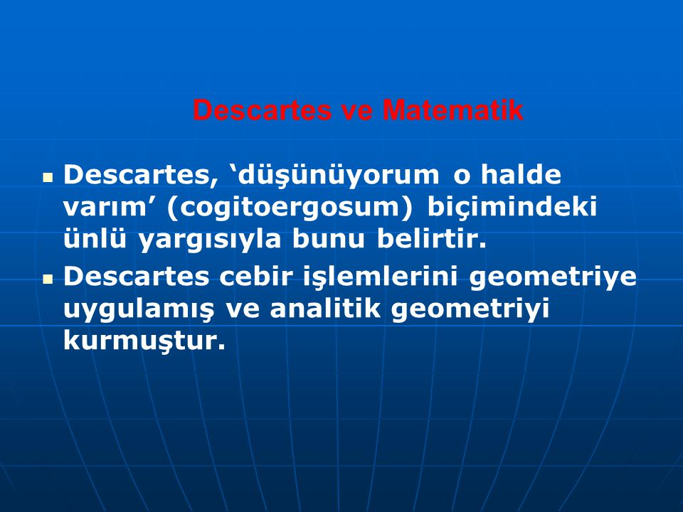 Descartes ve Matematik