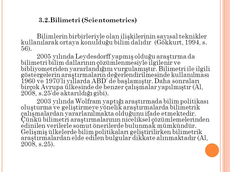 3.2.Bilimetri (Scientometrics)